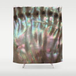 Shimmery Greenish Pink Abalone Mother of Pearl Shower Curtain