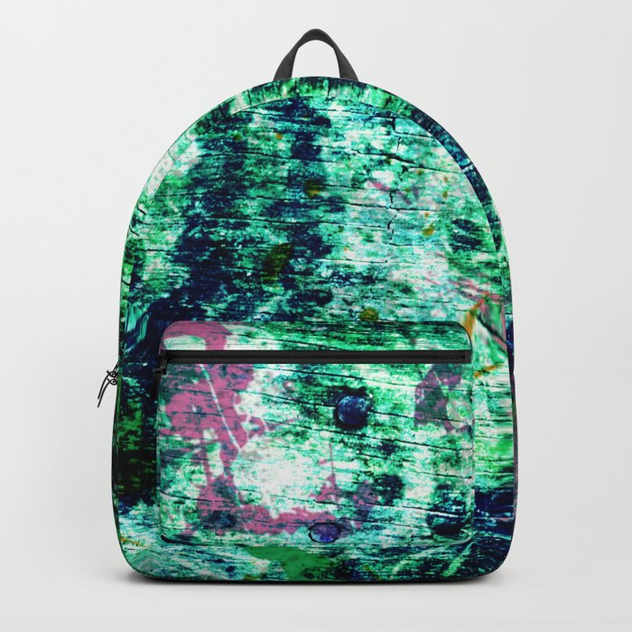 Face in Wood Abstract two Backpack