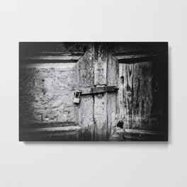 Doors of the World | Close-up Wooden Door with key lock in Crete, Greece, Europe | Black & White | Travel Photography | Photo Print | Art Print Metal Print
