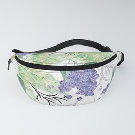 Lilac flowers on a white background. Fanny Pack