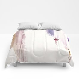 Sugar and Spice [2]: a minimal, pretty abstract piece in pinks, purple, mauve, and tan Comforters