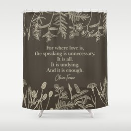 For where love is... Claire Fraser in Sepia Shower Curtain