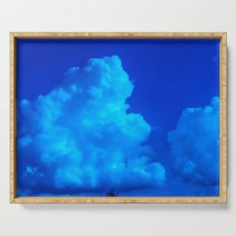 Deep Blue Clouds Serving Tray