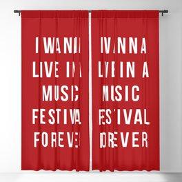 Live Music Festival Quote Blackout Curtain