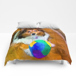 Sheltie with Ball Comforters
