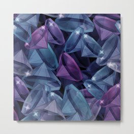 Gems . The alexandrite . Metal Print