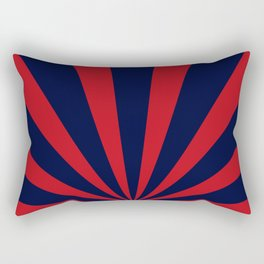 Retro dark blue and red sunburst style abstract background. Rectangular Pillow