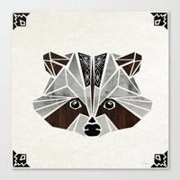 raccoon Canvas Prints featuring raccoon! by Manoou