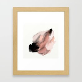 Swisher so sweet - an abstract painting in millennial pink, peach and black Framed Art Print