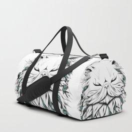 Poetic Persian Cat Duffle Bag
