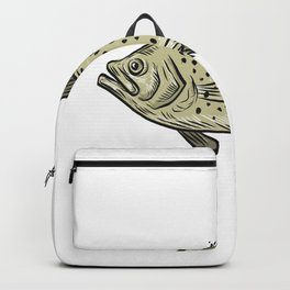 Crappie Fish Side Drawing Backpack