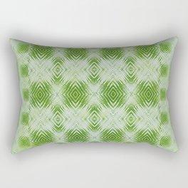 bigger tie-dye diamond in lime Rectangular Pillow