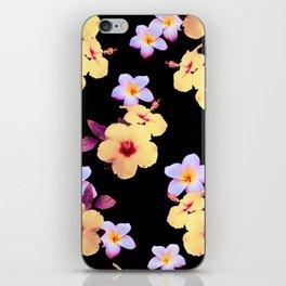 Hibiscus and Plumeria iPhone Skin