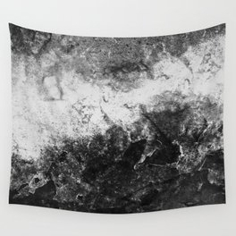 DAMAGED BLACK AND WHITE Wall Tapestry