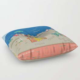 Afternoon at the sea Floor Pillow