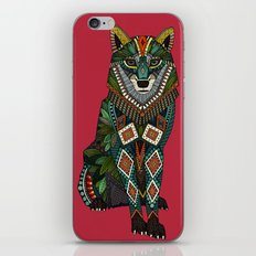 wolf red iPhone Skin