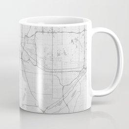 Minneapolis Map - Black and White (Light) Coffee Mug