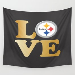 Pittsburgh Steelers_Love Wall Tapestry
