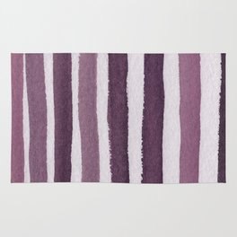 Rosy Stripe Abstract Painting Rug
