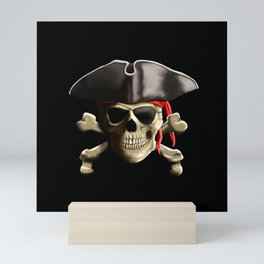 The Jolly Roger Pirate Skull Mini Art Print