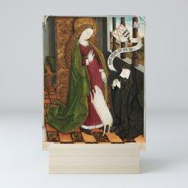 Kneeling in Adoration before Saint Agnes Mini Art Print