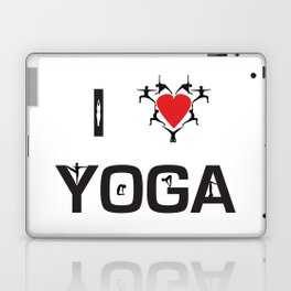 I heart Yoga Laptop & iPad Skin