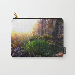 'Sun Awakening Sleeping Daffodils' Carry-All Pouch