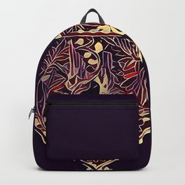 Carved Bird and Leaves Backpack