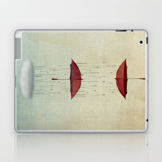 the umbrella runneth over and over Laptop & iPad Skin