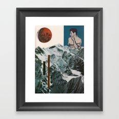mountain observer Framed Art Print