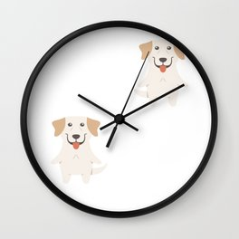 You Can't Scare Me I Have 2 Labrador Retrievers Wall Clock