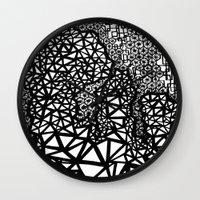 big bang Wall Clocks featuring Big Bang by Cori Hills