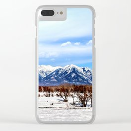 Sayan Mountains Clear iPhone Case