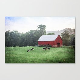 Red Barn Landscape Photography Canvas Print