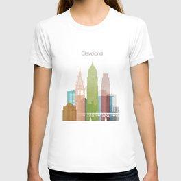 Cleveland art skyline, T-shirt
