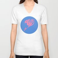 fairy tail V-neck T-shirts featuring Fairy Tail Segmented Logo (Lucy) circle by JoshBeck