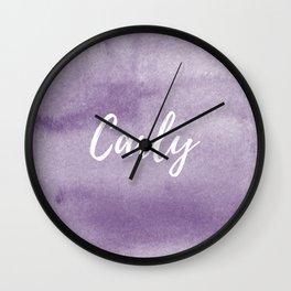 Carly Plum Watercolor Wall Clock