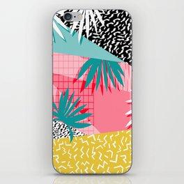 Bingo - throwback retro memphis neon tropical socal desert festival trendy hipster pattern pop art iPhone Skin