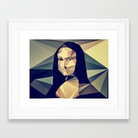 mona lisa Framed Art Prints featuring :: mona lisa :: by Nico Vincentini