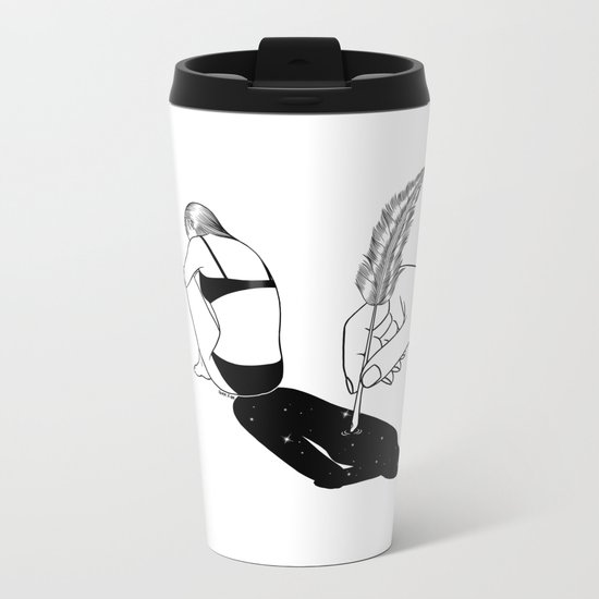 A Poet Metal Travel Mug