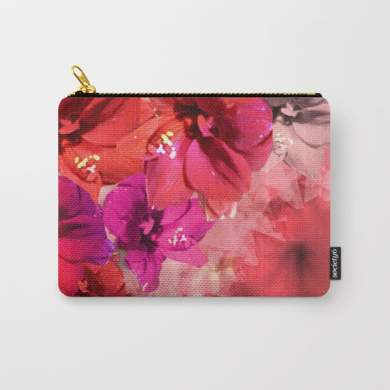 Red Flower Fantasia Carry-All Pouch
