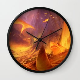 The Great White Lava Bed Wall Clock