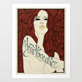 HeartBreaker - RED Art Print