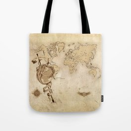 World Map (Here be Dragons!) Tote Bag
