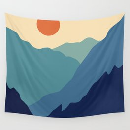 Mountains & River II Wall Tapestry