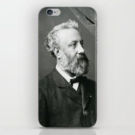 portrait of Jules Verne by Nadar iPhone Skin