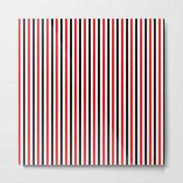 Black And Red Stripes Design Metal Print