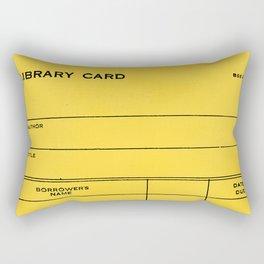 Library Card BSS 28 Yellow Rectangular Pillow