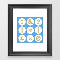 Caslon Type Specimen: Punctuation Framed Art Print