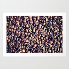 Coffee photography Sepia print Kitchen art Coffee beans photo Modern decoration Art Print